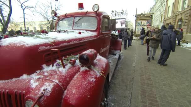 starý hasičský vůz