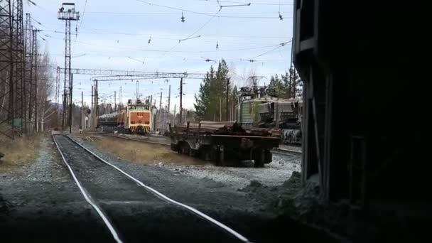 Cargo freigt train railroad