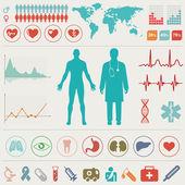 lékařské infographic sada. vektorové ilustrace