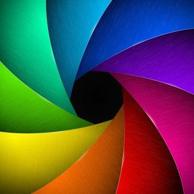 Multicolor camera shutter