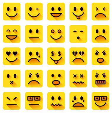 Flat smiley icons