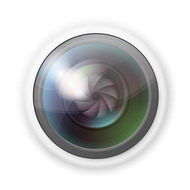 Hidden camera lens