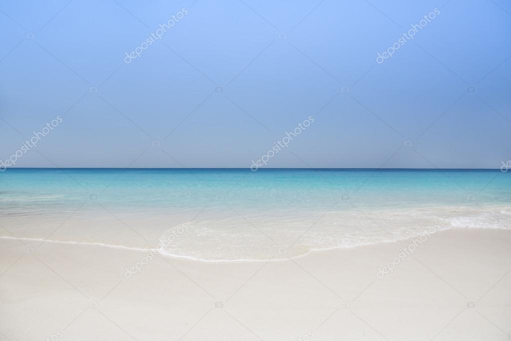 The island of dreams. Rest and relaxation. White sand and azure