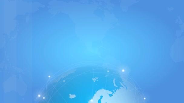 Loopy záběry o spřádání earth na modrém pozadí