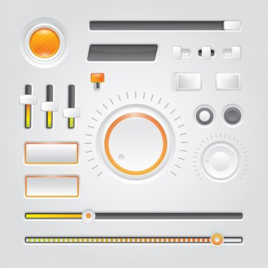White user interface - vector