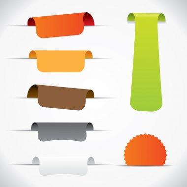Label set, colorful vector design elements