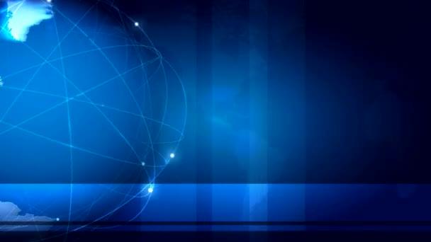 rotující země na pozadí animovaný modré vědy