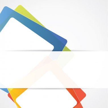 Abstract vector background with colorful squares