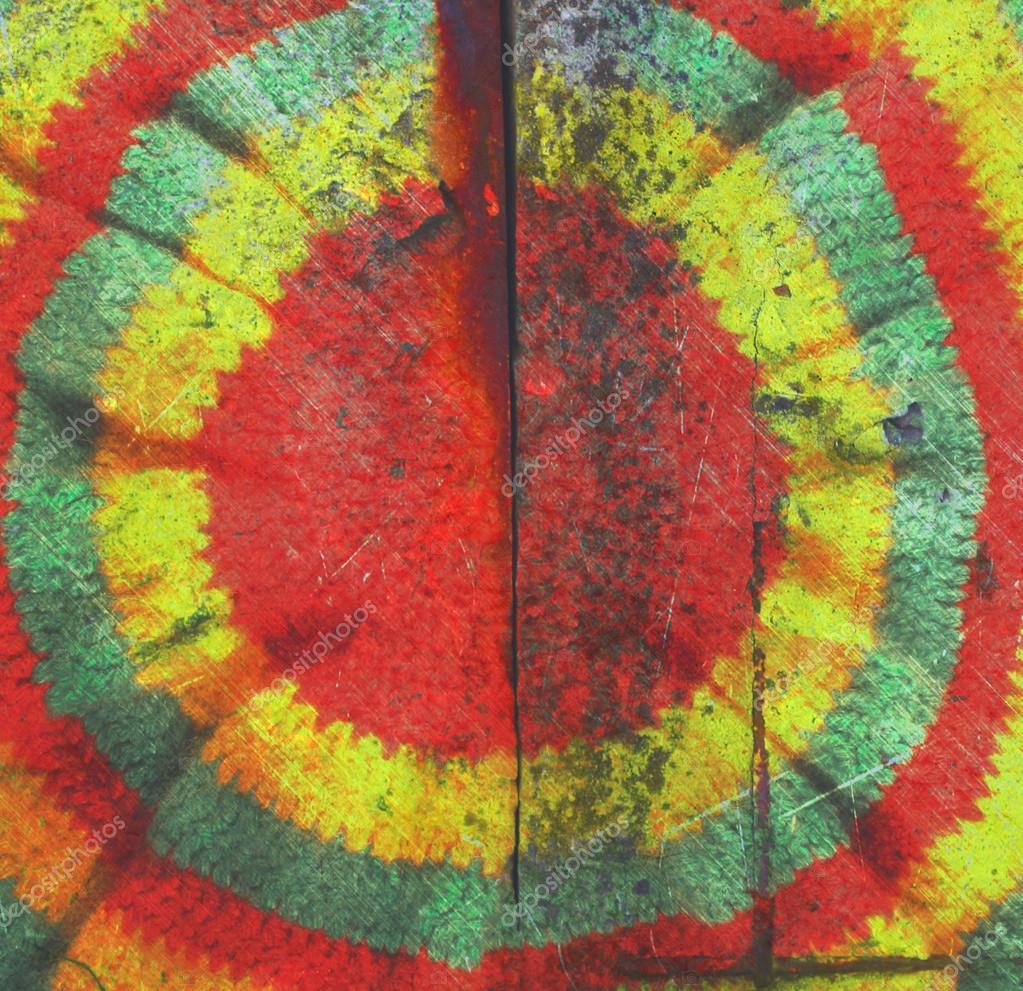 Vintage Ziegel Wand retro-Style Rasta Hut hippie — Stockfoto ...