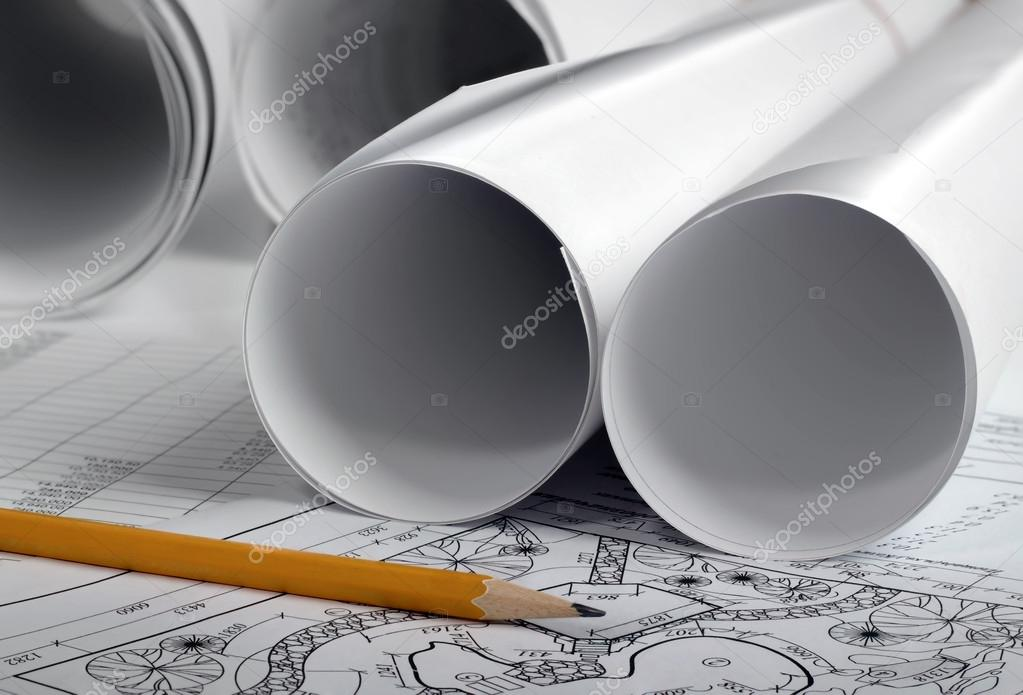 Rolls of drawings