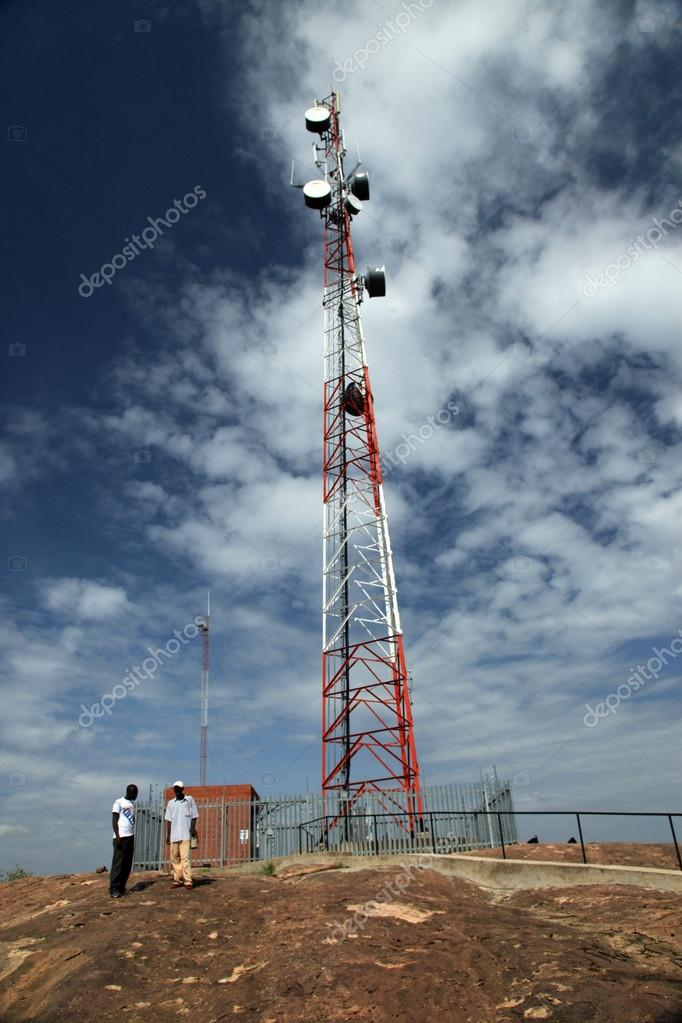 Cellphone Signal Tower - Abela Rock, Uganda, Africa