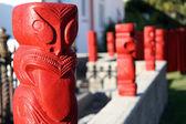 Fotografia Maori carving - cultura maori in Nuova Zelanda