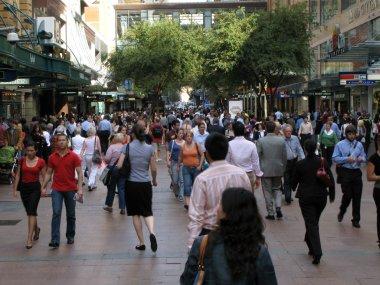 yoğun şehir sokak - sydney, Avustralya