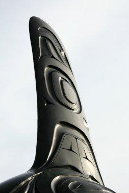 Killer Whale Statue - Vancouver Aquarium in Stanley Park, Vancouver, BC, Canada stock vector
