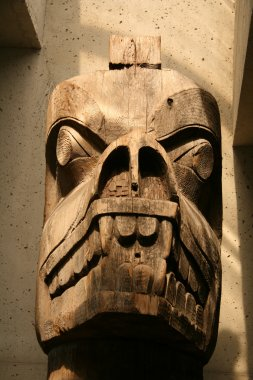 Wooden Carving - Museum of Anthropology, Vancouver, BC, Canada