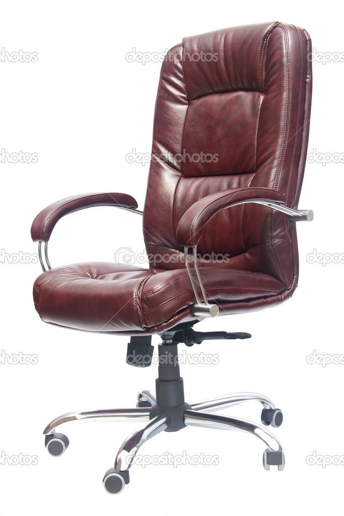 silla de oficina tapizado de cuero de color grana con las ...