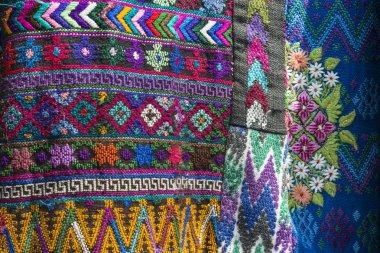 Traditional handmade guatemalan fabric