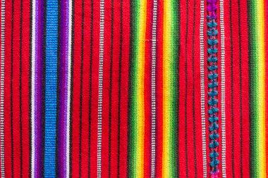 Handmade traditional guatemalan fabric