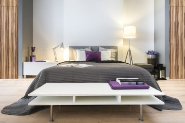 Modern stylish bedroom