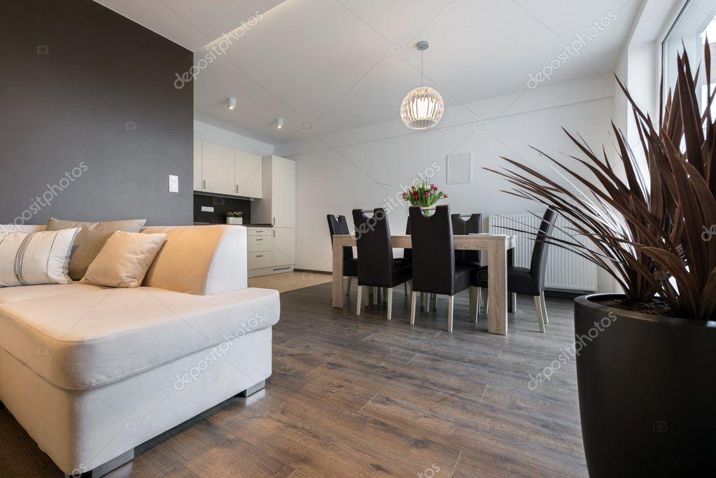 Interior design: soggiorno e cucina — Foto Stock ...