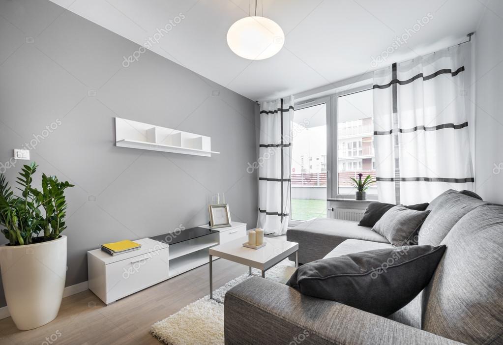 Modern interieur woonkamer stockfoto jacek kadaj 43904737 Grijze woonkamer