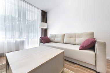 Modern interior design series: living room corner stock vector