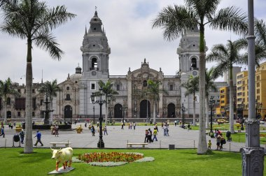 Cathedral at Plaza de Armas, Lima, Peru