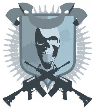 Emblem gangster vector