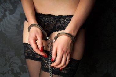 girl in handcuffs