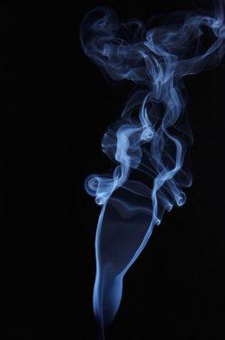 Female shape made of smoking fume stock vector