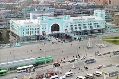 NOVOSIBIRSK, RUSSIA - NOVEMBER 3, 2013. Railway station in Novosibirsk city, biggest city in Western Siberia, Russia