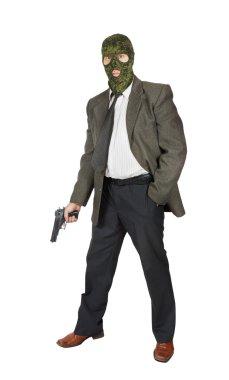 Mafioso with a pistol