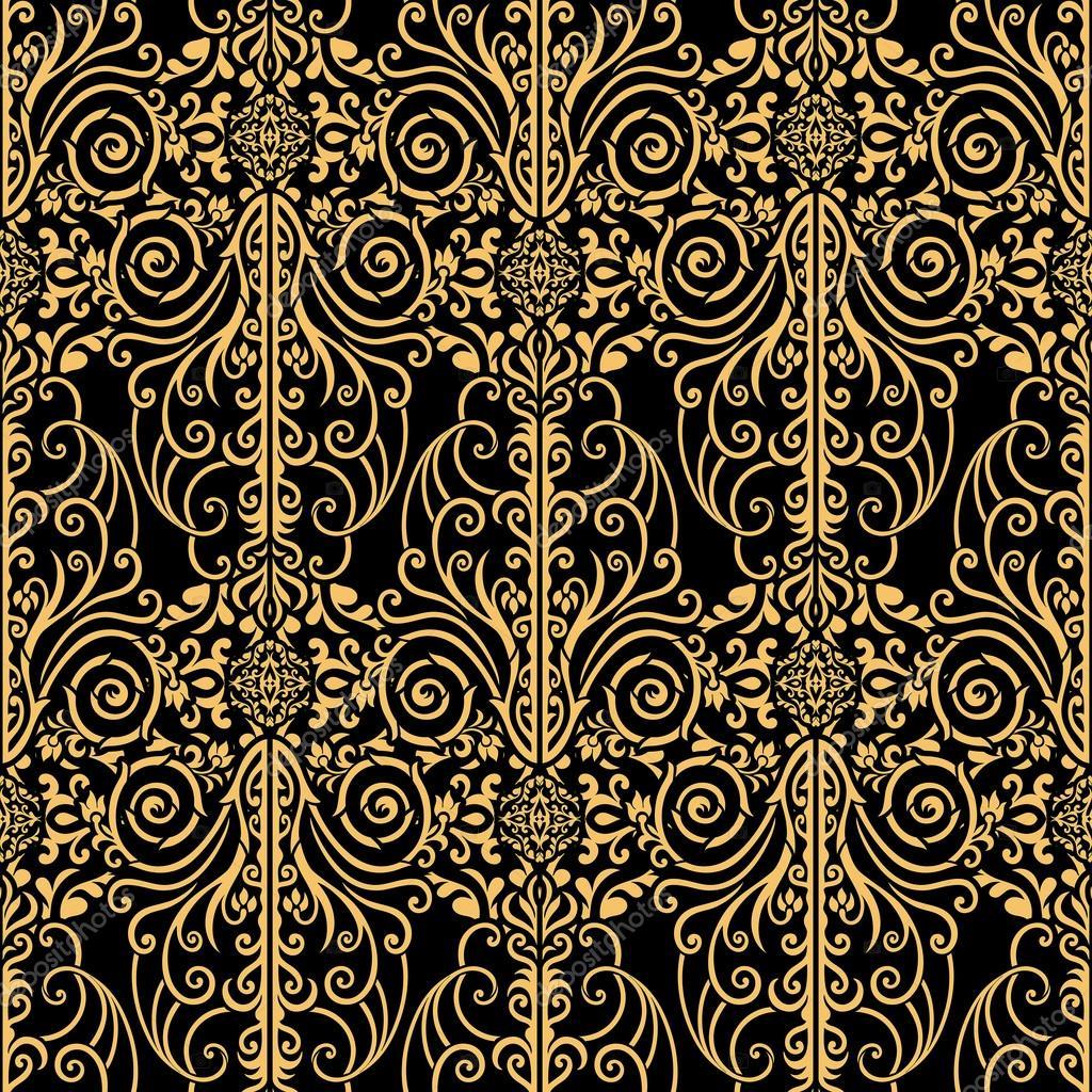 abstrakt, royal, gold und schwarz Vintage Hintergrund — Stockfoto ...