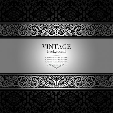 Vintage background ornament