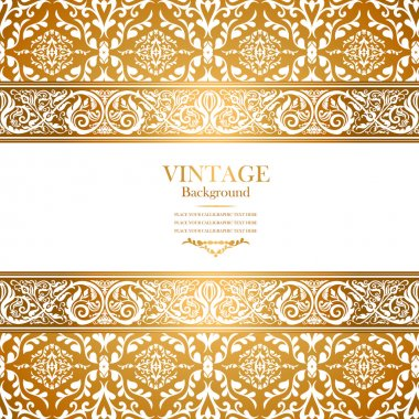 Vintage royal background, antique, victorian gold ornament