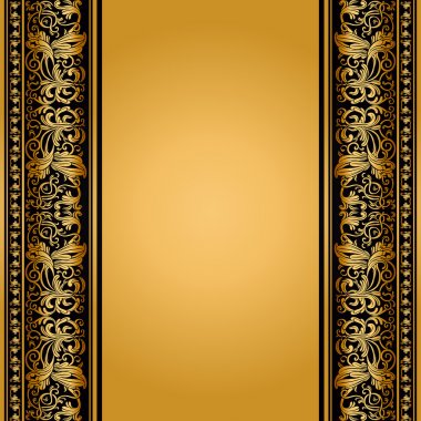 Vintage, elegant background, antique, victorian floral frame