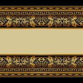 Fotografie Vintage background, elegant antique, victorian gold, floral orna