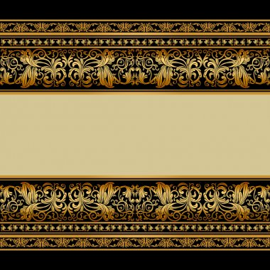 Vintage background, elegant antique, victorian gold, floral orna