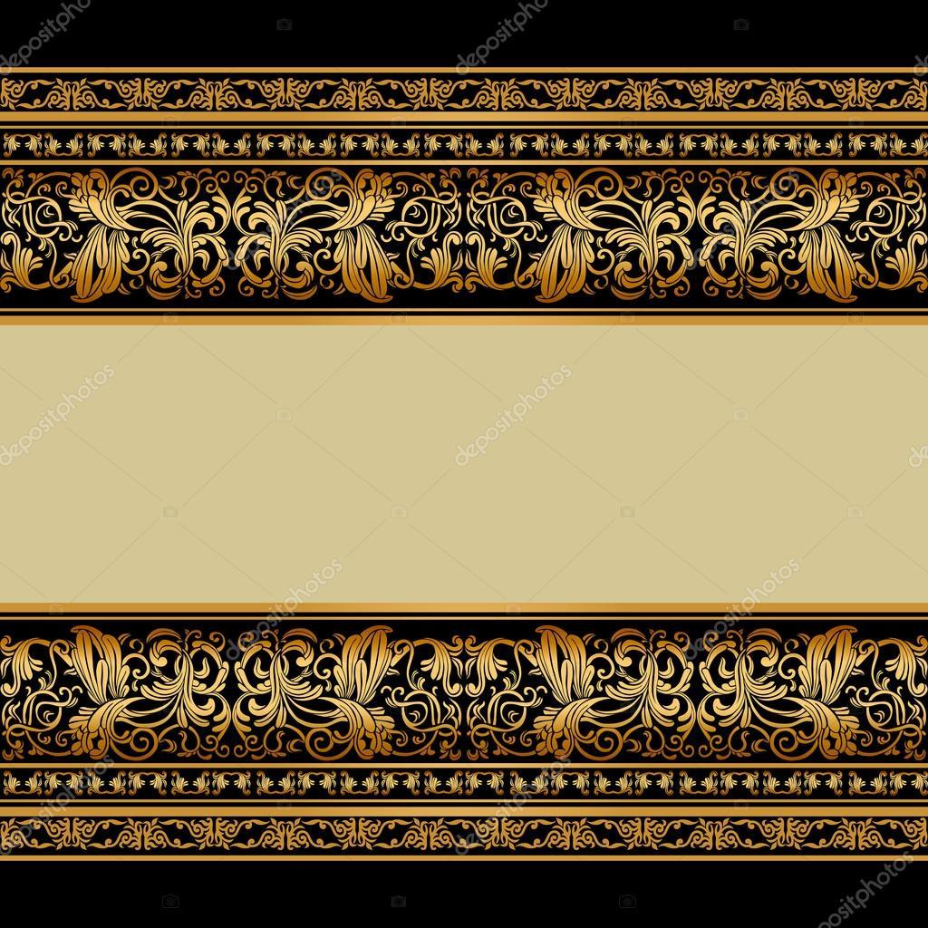Stock Illustration Vintage Background Elegant Antique Victorian on Victorian Ornamental Border Brown