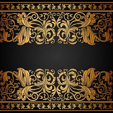 Vintage background, elegance antique, victorian gold, floral ornament