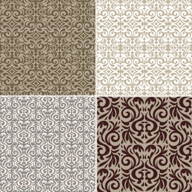 Vintage backgrounds, classic ornament, beautiful seamless pattern