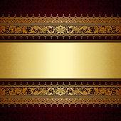 Photo Vintage background, antique, victorian gold ornament, baroque frame