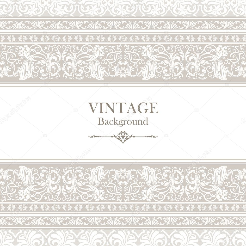 Vintage background ornate baroque pattern vector illustration stock - Vintage Background Elegance Antique Victorian Floral Ornament Baroque Frame Stock Vector