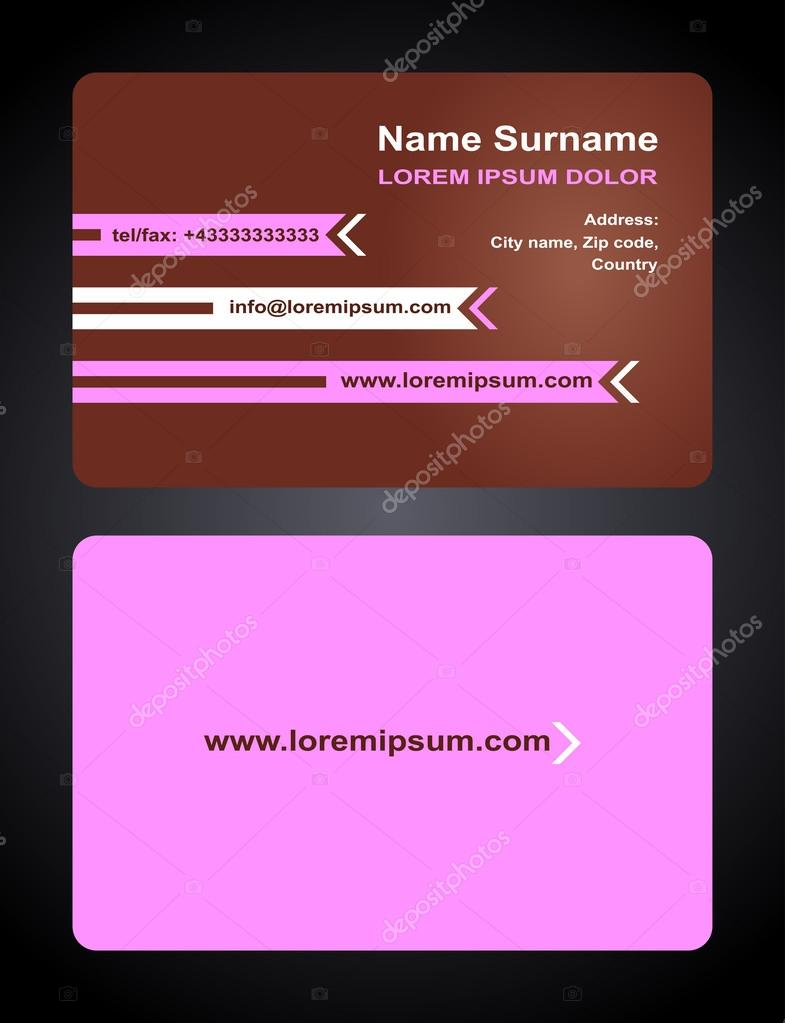 Business card creative design elegant style print front and back business card creative design elegant style print front and back samples pink templates reheart Image collections