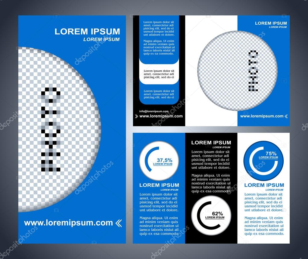 Business Brochure Layout Three Fold Flyer Template Design - Pages brochure template