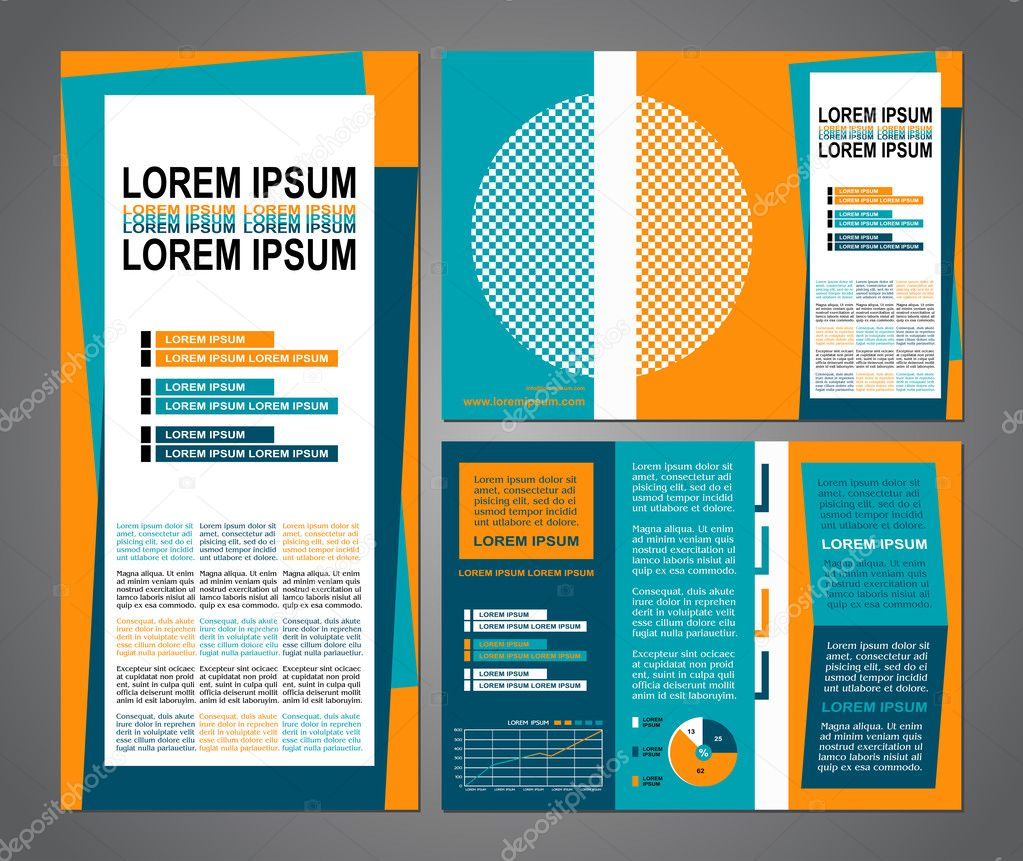 business brochure layout three fold flyer template design