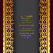 Fotografie Vintage background design, elegant book cover, victorian style invitation card
