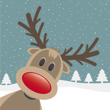 Rudolph red nose look