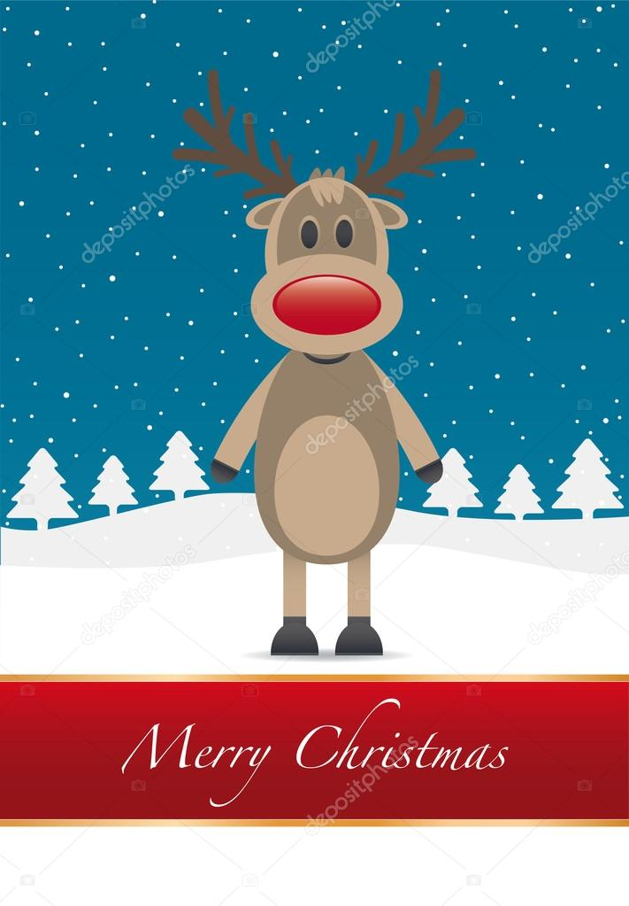 Rudolph red nose merry christmas