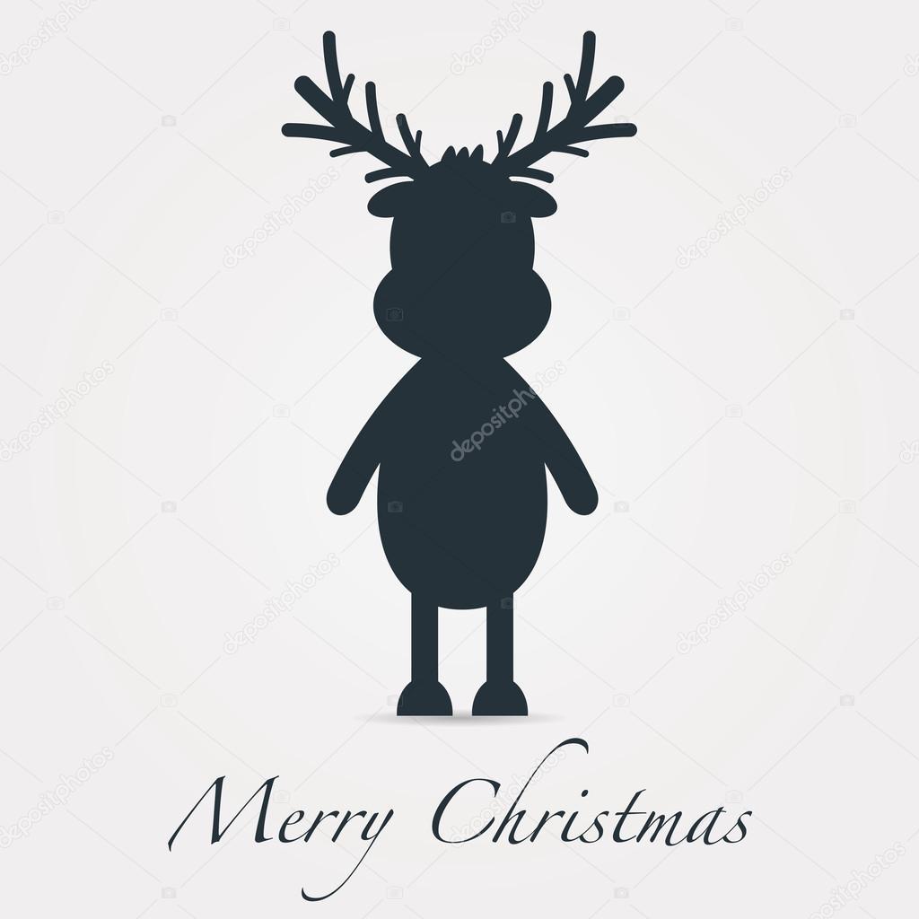 rentier silhouette schwarz frohe weihnachten text. Black Bedroom Furniture Sets. Home Design Ideas